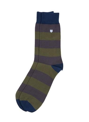 Barbour Oxton Çorap Ol17 Olive Yeşil